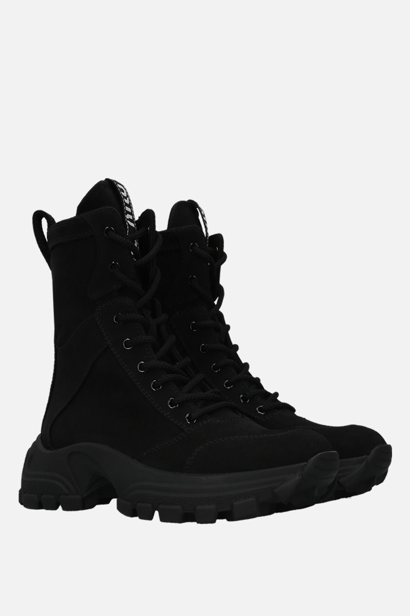MIU MIU: denim combat boots Color Black_2