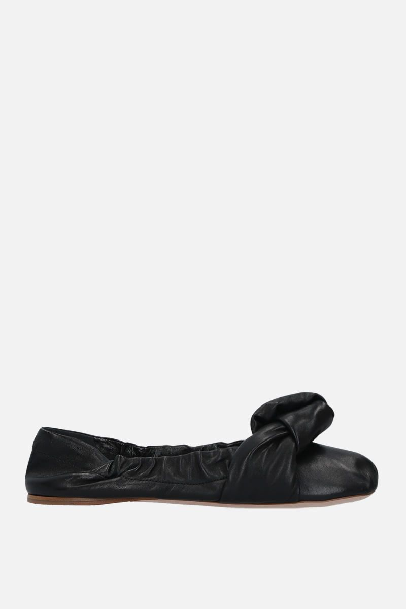 MIU MIU: soft nappa leather ballerinas Color Black_1