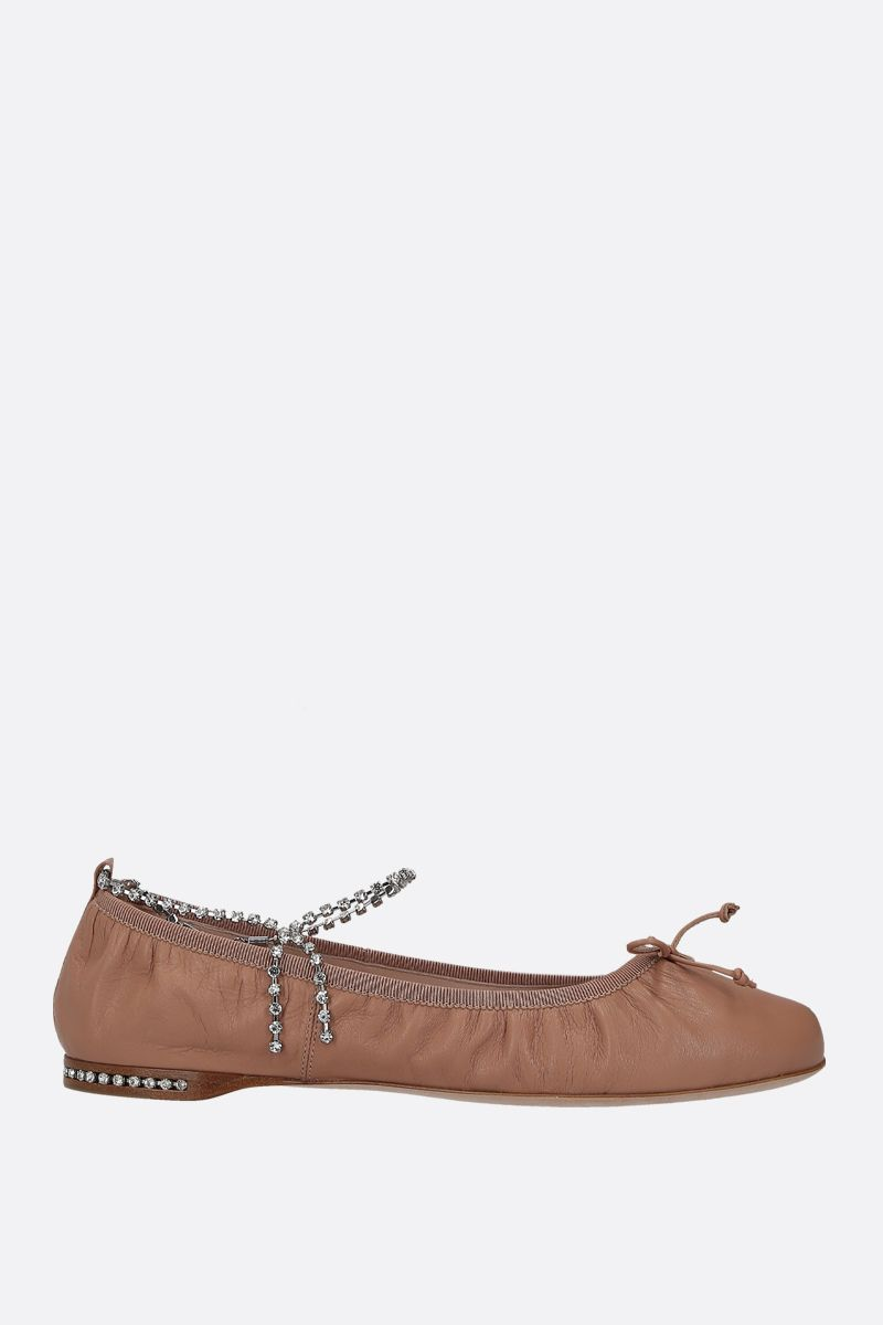 MIU MIU: soft nappa leather ballerinas Color Neutral_1