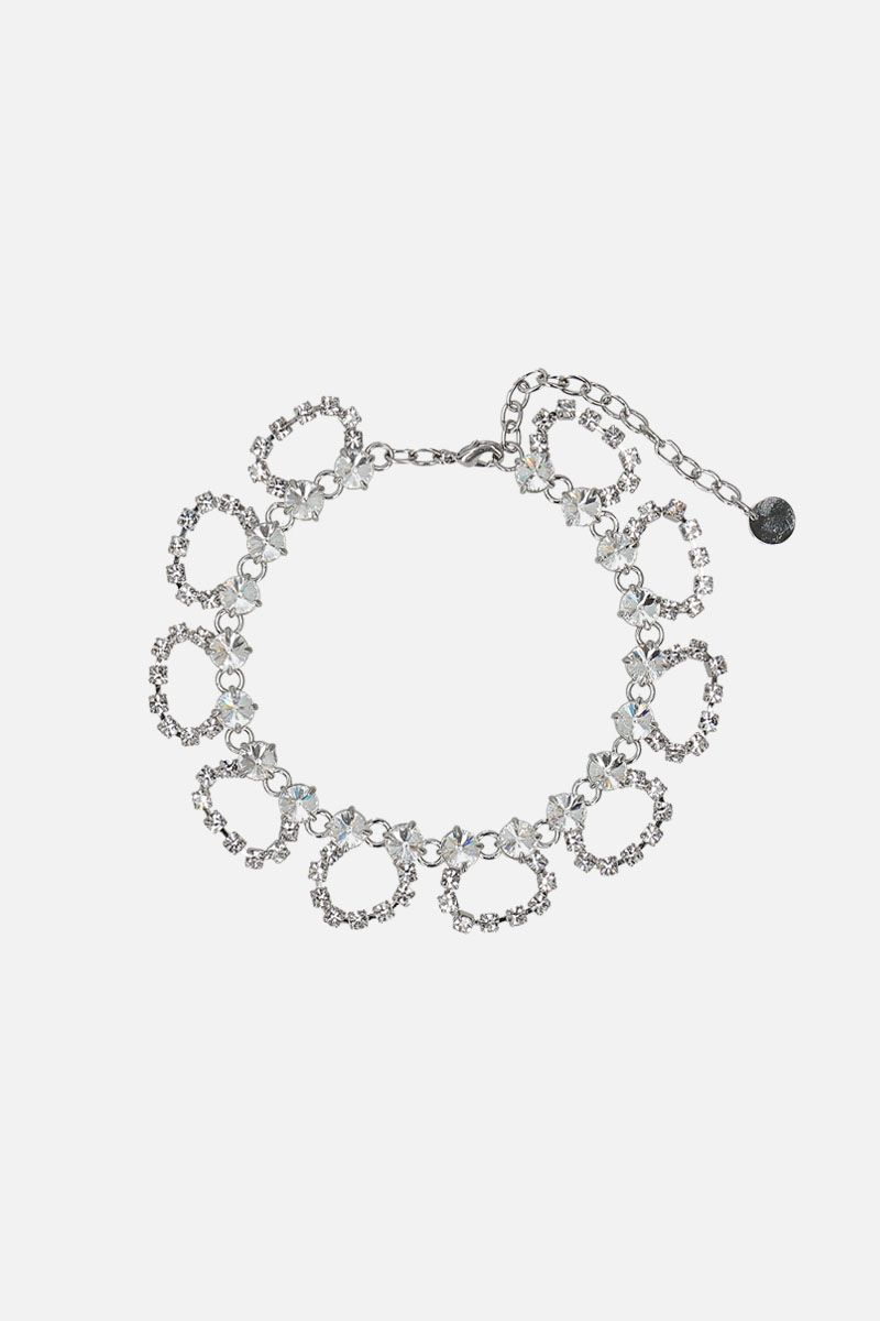 MIU MIU: crystal-embelished metal anklet Color Neutral_1