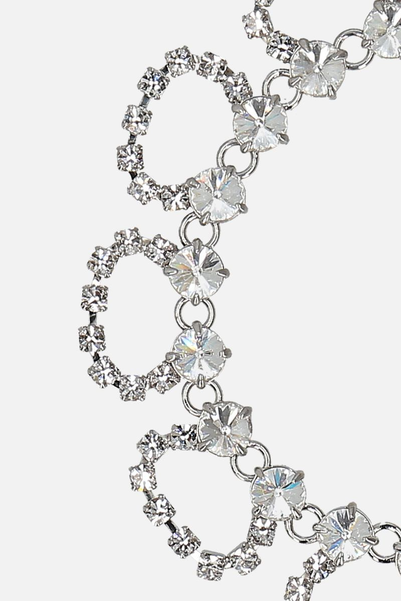 MIU MIU: crystal-embelished metal anklet Color Neutral_2