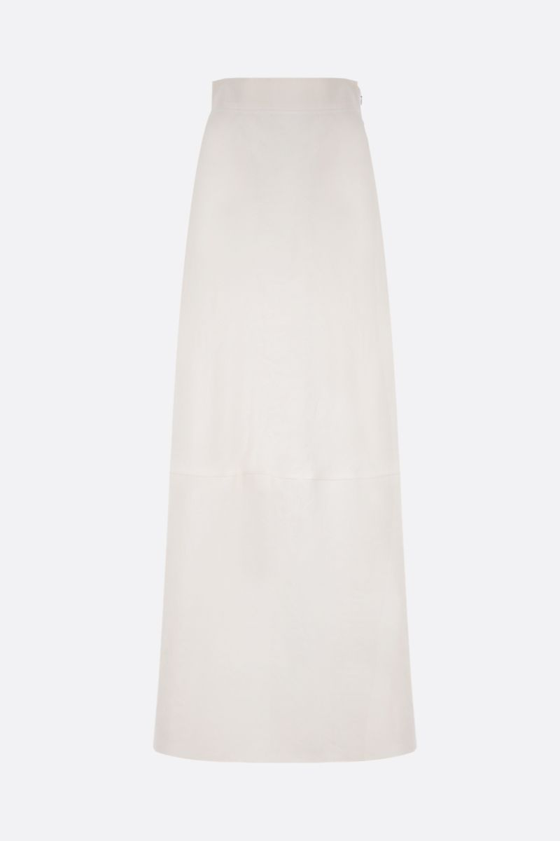 MIU MIU: linen long skirt Color White_1