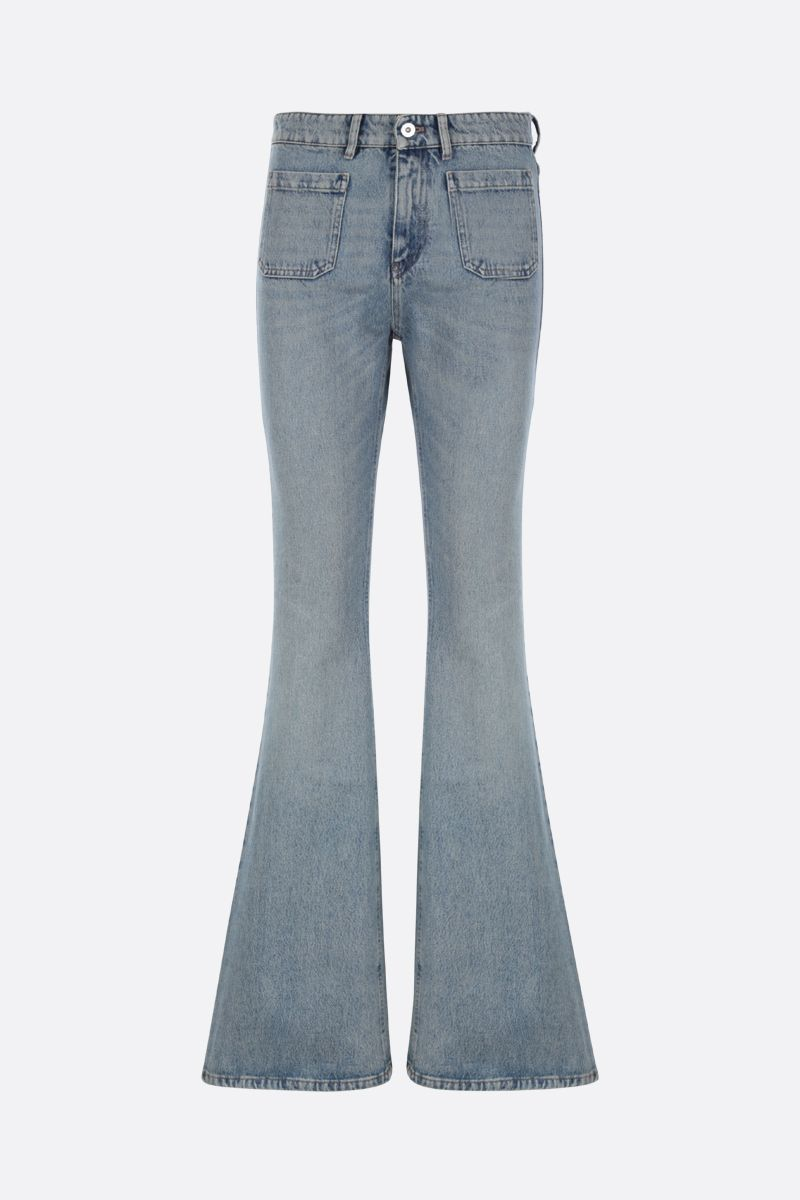 MIU MIU: jeans flare slim-fit Colore Blu_1