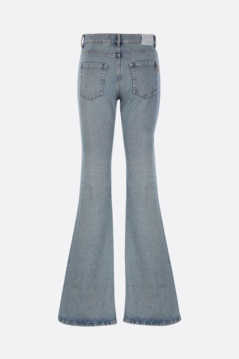 MIU MIU: jeans flare slim-fit Colore Blu_2