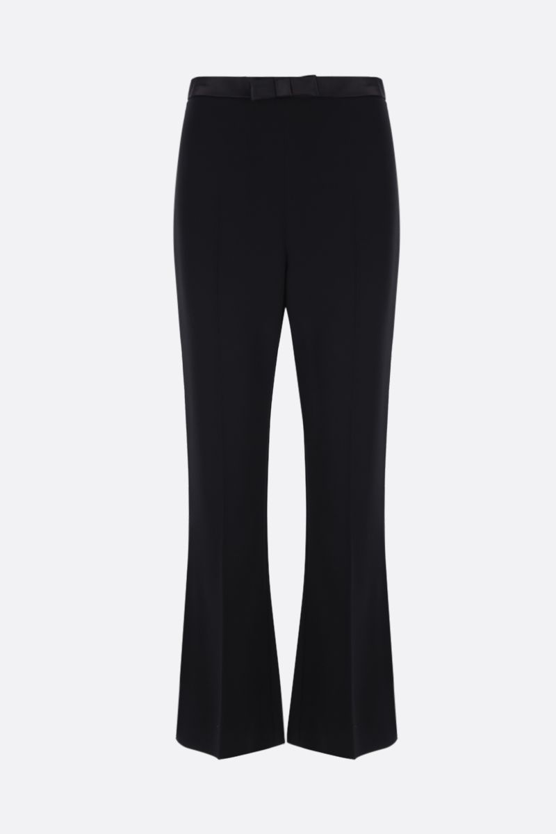 MIU MIU: cady cropped pants with bow detailing Color Black_1