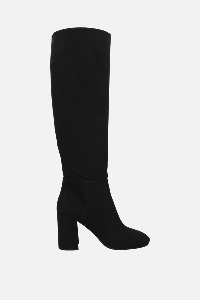 MIU MIU: denim boots Color Black_1