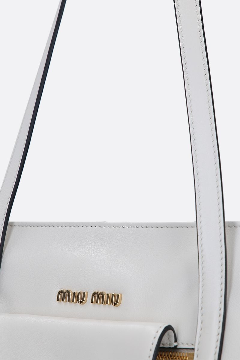 MIU MIU: Grace Lux leather tote bag Color White_4