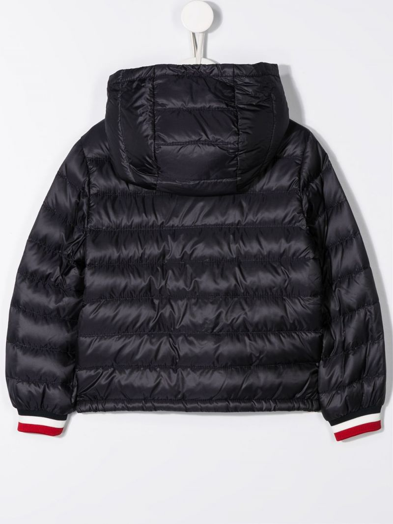 MONCLER KIDS: Giroux nylon down jacket Color Blue_2