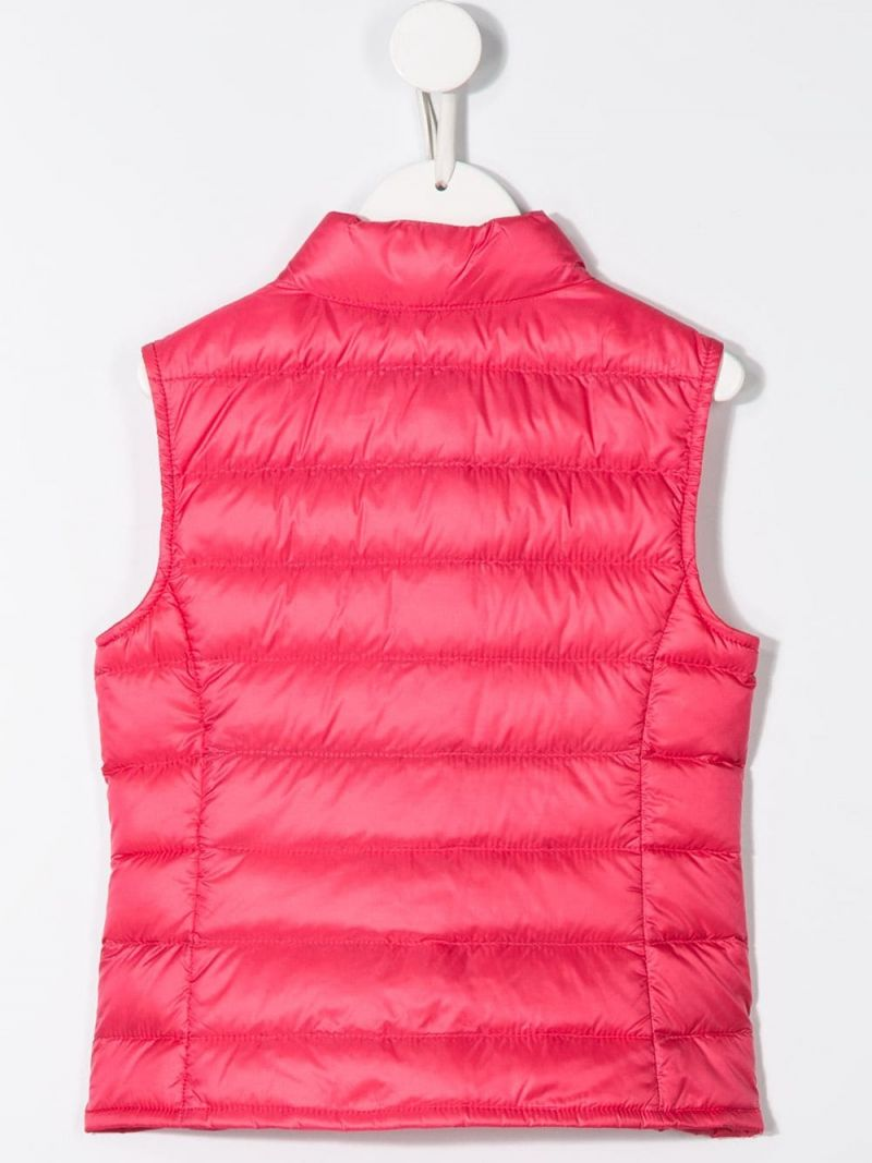 MONCLER KIDS: Liane sleeveless down jacket in nylon Color Pink_2