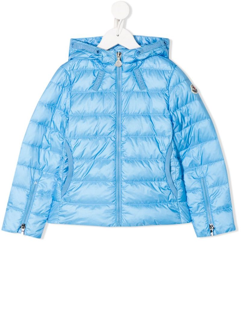 MONCLER KIDS: Kolia nylon down jacket Color Blue_1