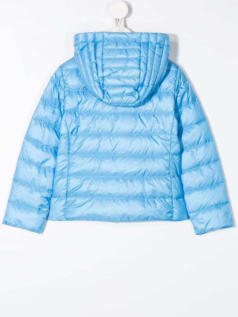 MONCLER KIDS: Kolia nylon down jacket Color Blue_2