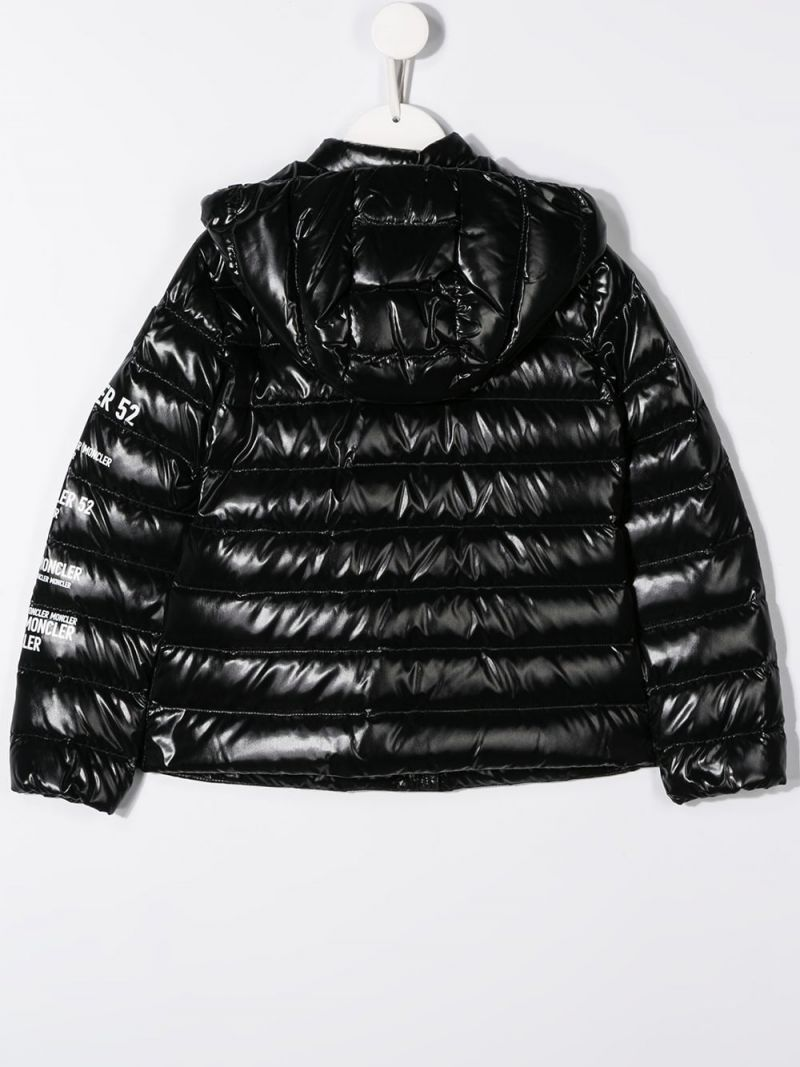 MONCLER KIDS: Tulipe down jacket in shiny nylon Color Black_2