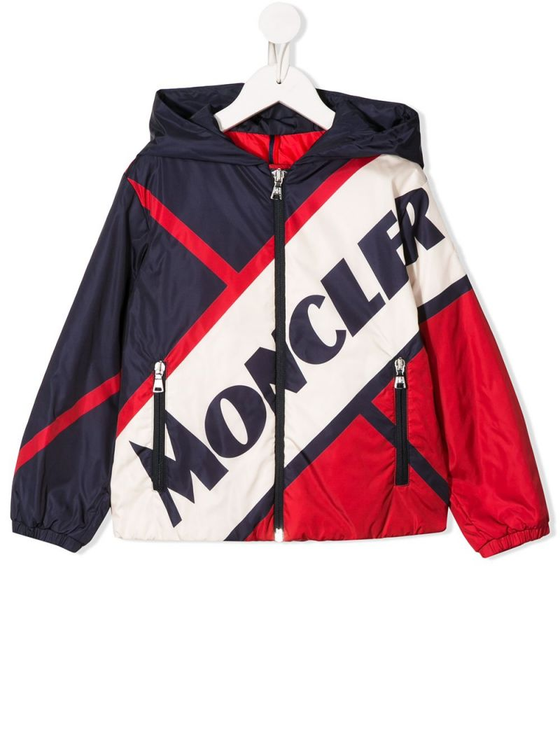 MONCLER KIDS: Bert colour-block nylon down jacket_1