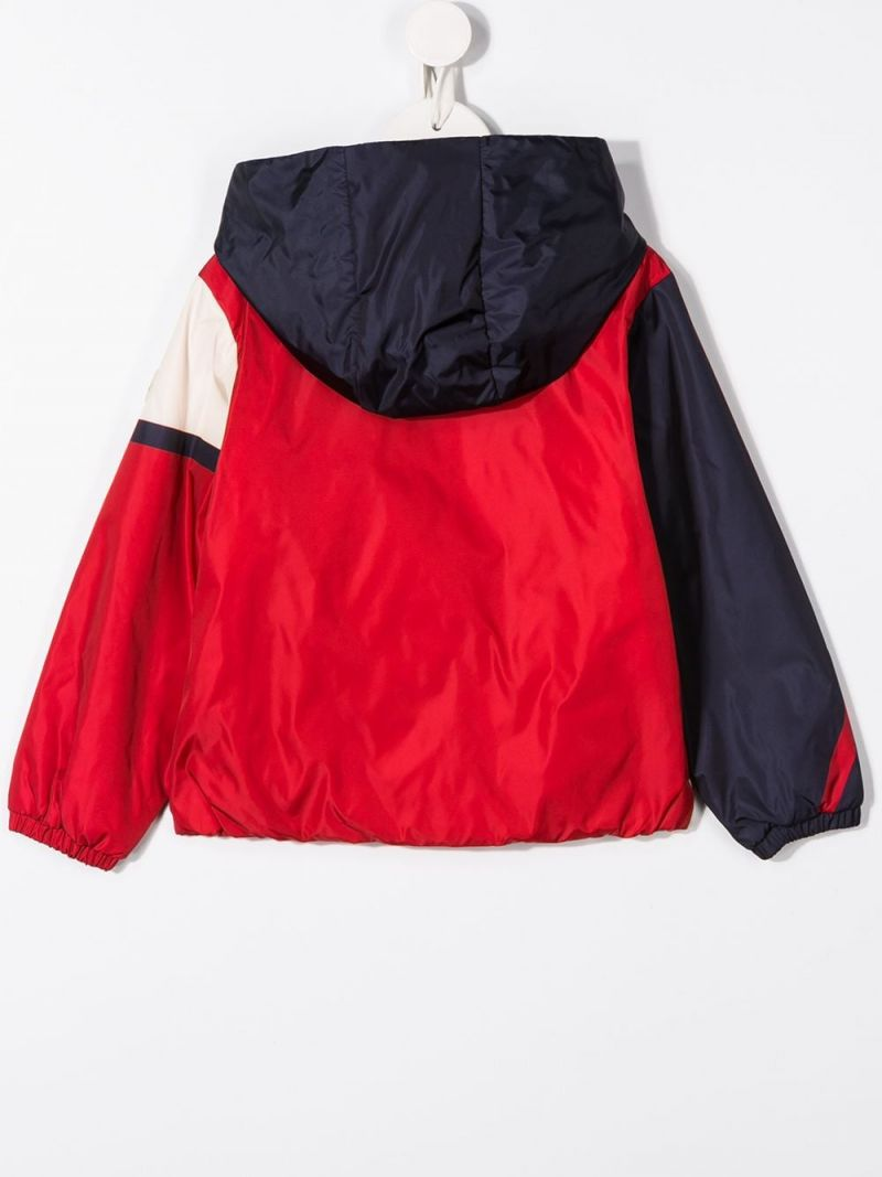 MONCLER KIDS: Bert colour-block nylon down jacket_2