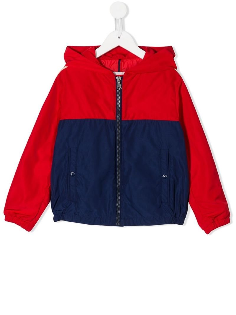 MONCLER KIDS: Gittaz nylon windbreaker Color Red_1
