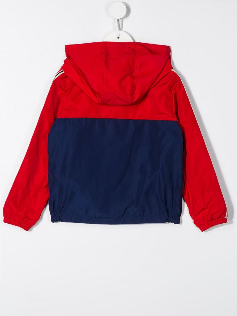 MONCLER KIDS: Gittaz nylon windbreaker Color Red_2
