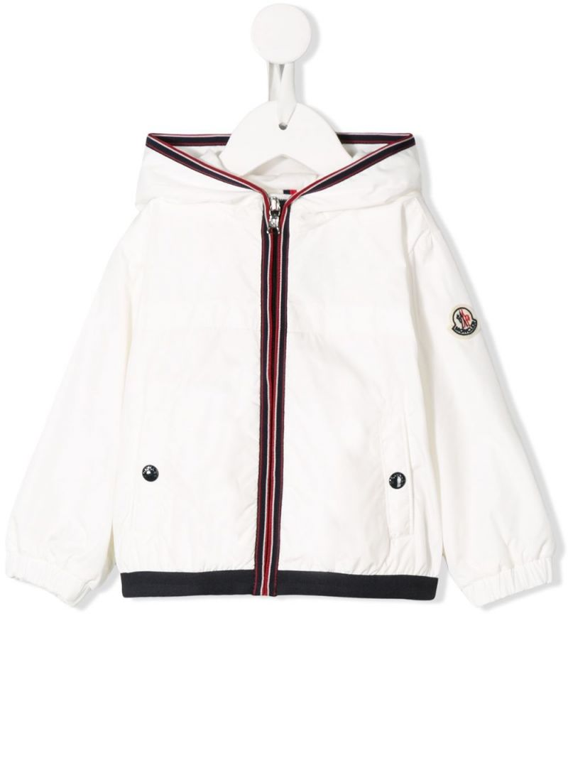 MONCLER KIDS: Anton nylon windbreaker Color White_1