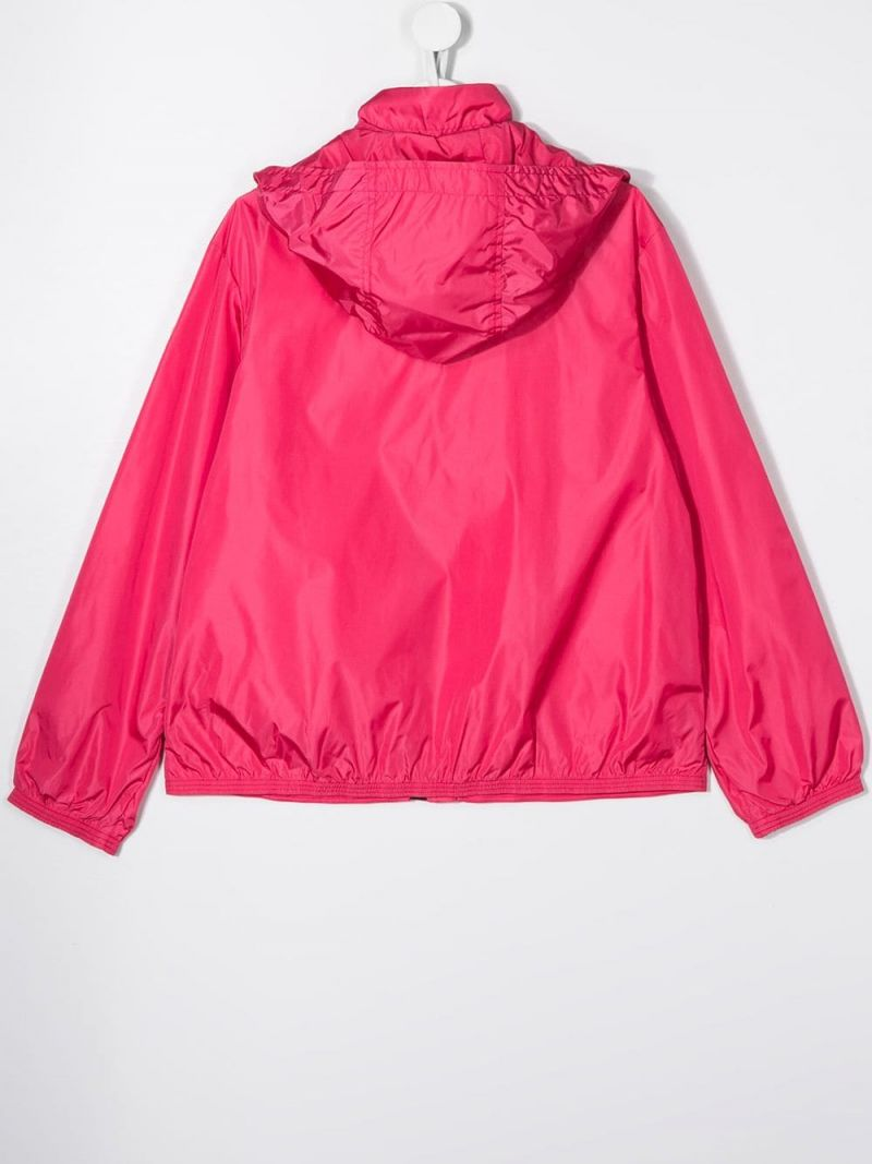 MONCLER KIDS: Zanice nylon windbreaker Color Red_2