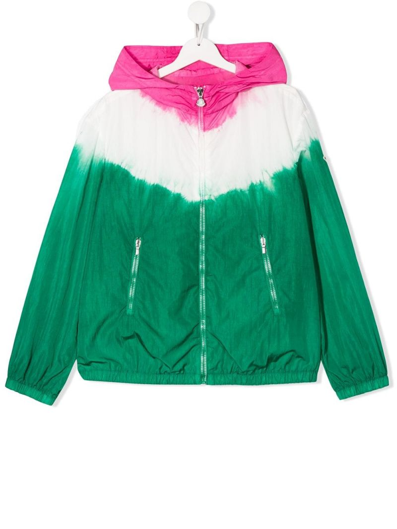 MONCLER KIDS: tie and dye nylon windbreaker Color Multicolor_1