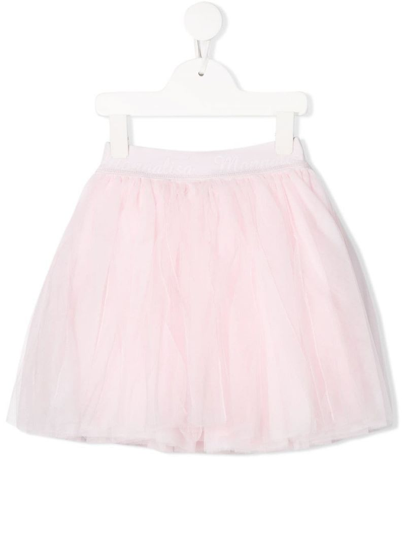 MONNALISA: tulle flared skirt Color Pink_1