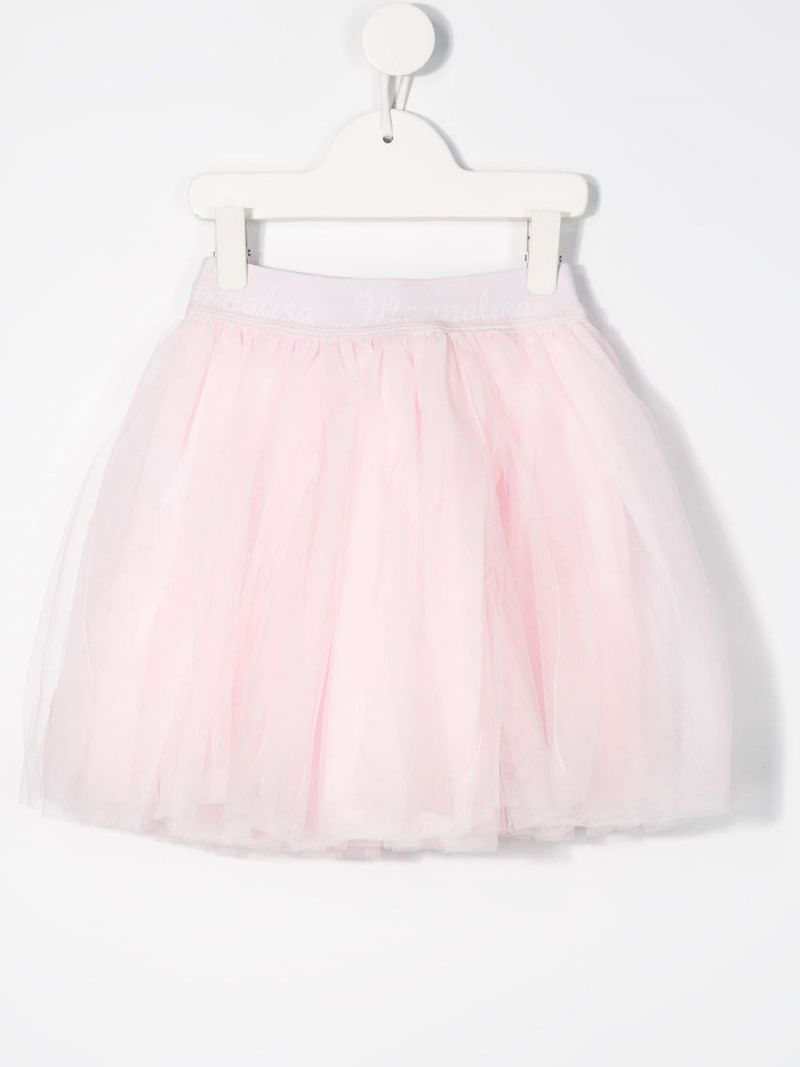 MONNALISA: tulle flared skirt Color Pink_2