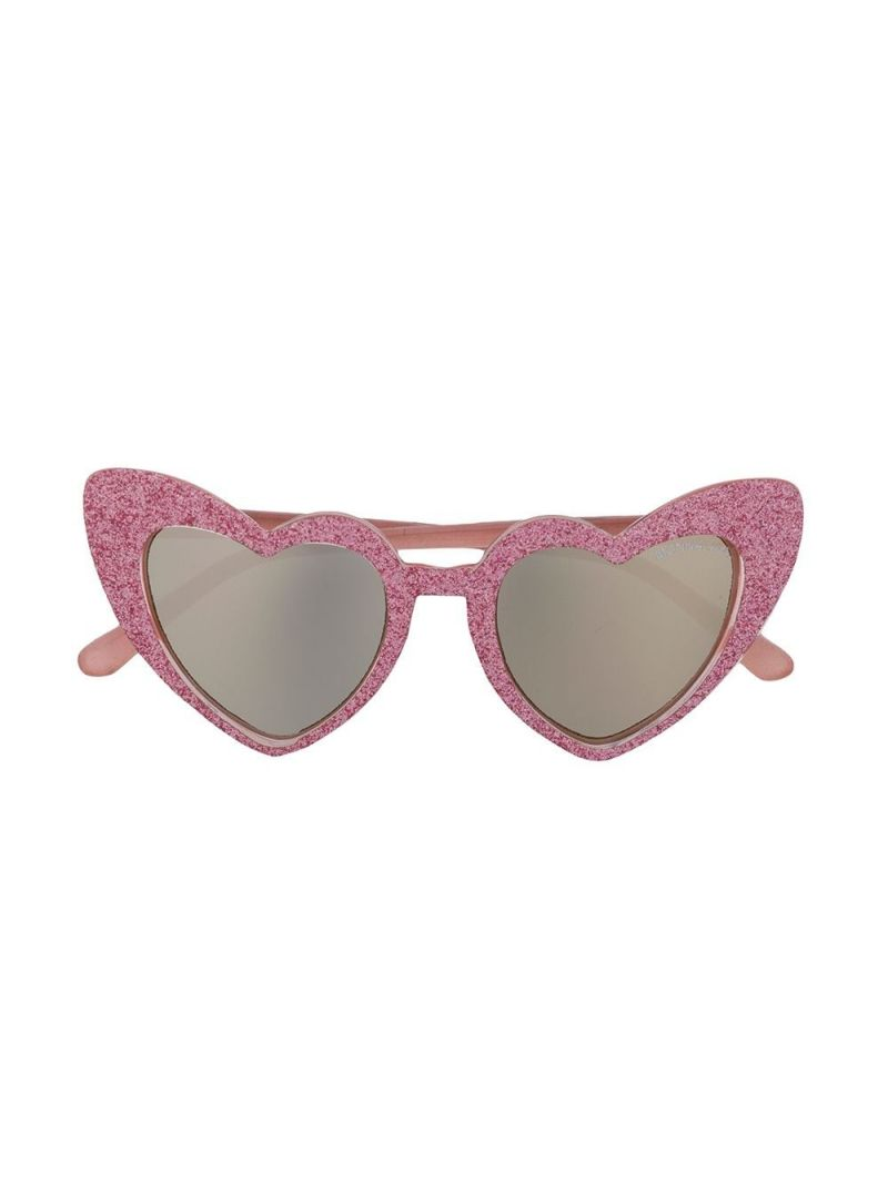 MONNALISA: acetate heart-shaped sunglasses Color Pink_1