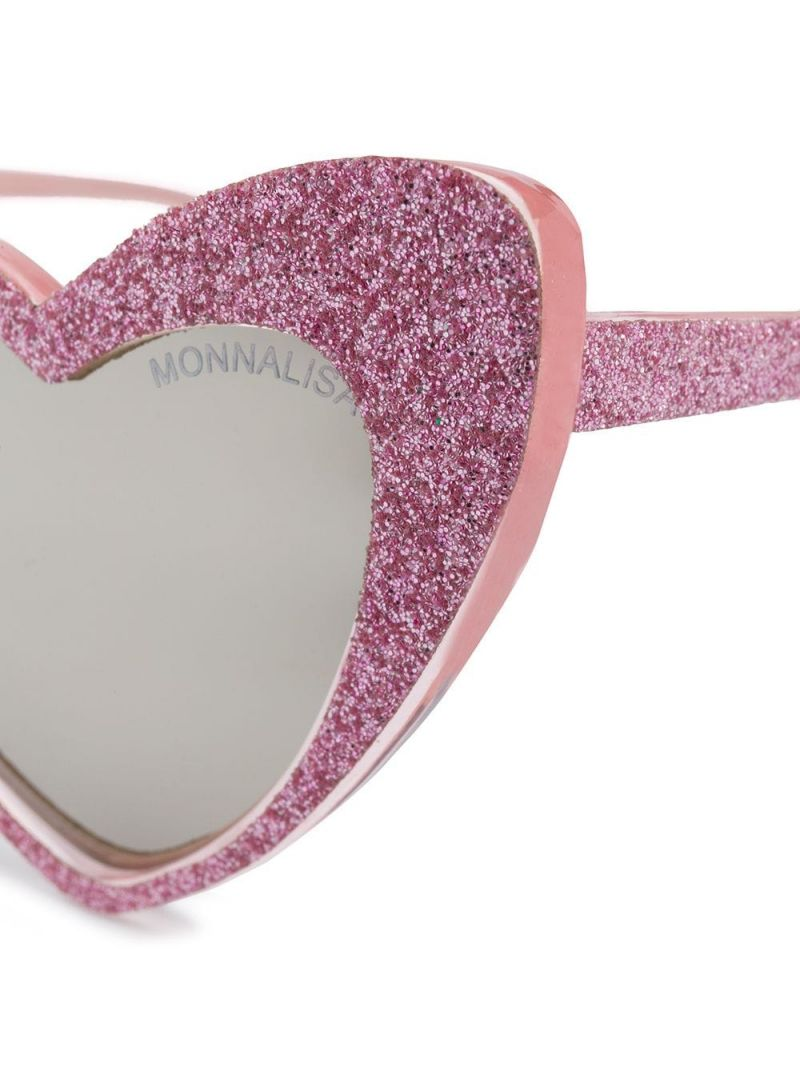 MONNALISA: acetate heart-shaped sunglasses Color Pink_2