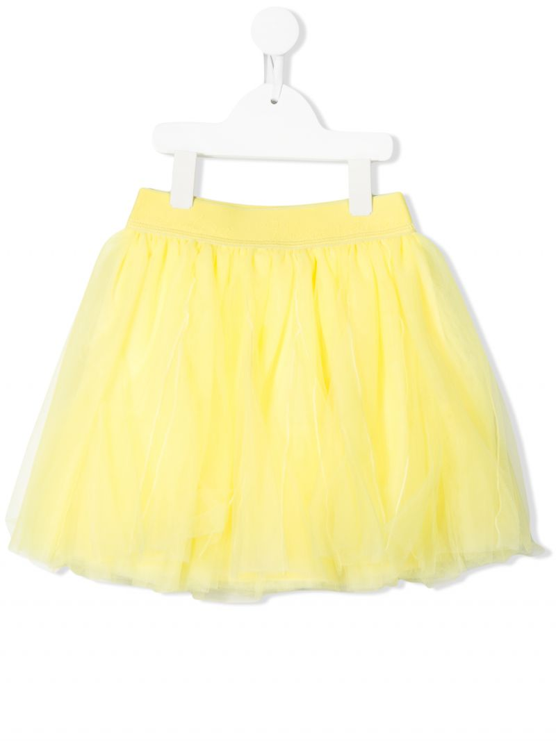 MONNALISA: tulle flared skirt Color Yellow_1