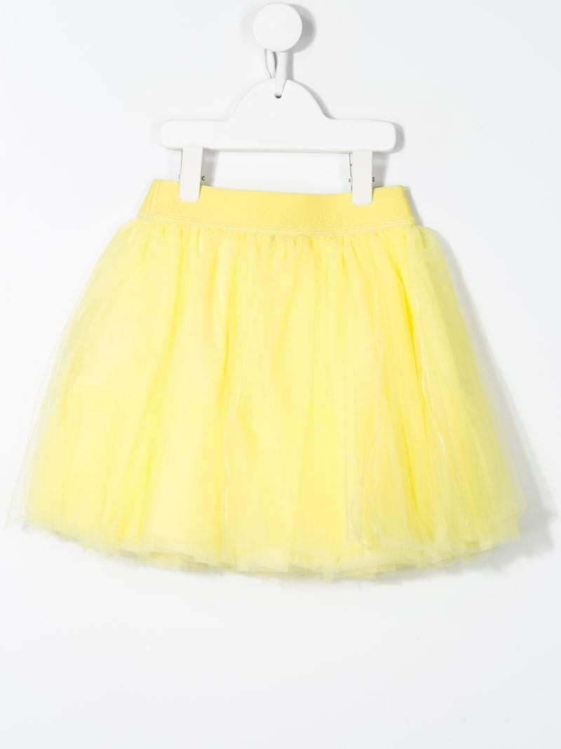 MONNALISA: tulle flared skirt Color Yellow_2