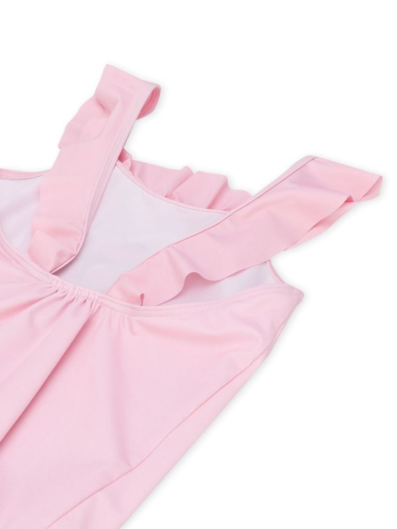 MOSCHINO KIDS: Heart Balloons Teddy Bear lycra one-piece swimsuit Color Pink_2
