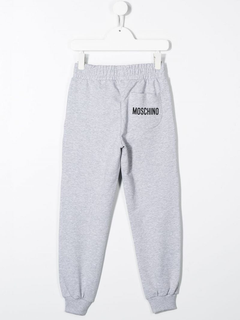 MOSCHINO KIDS: Monster Hands cotton blend joggers Color Grey_2