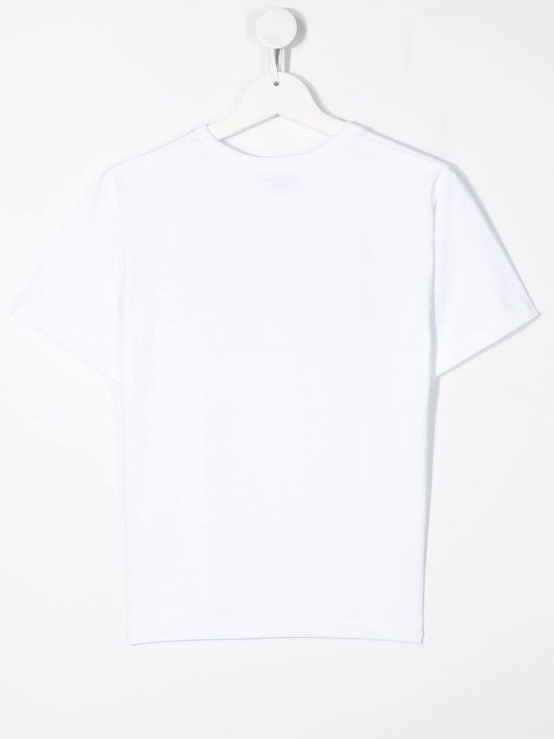 MOSCHINO KIDS: Monster Hands cotton blend t-shirt Color White_2