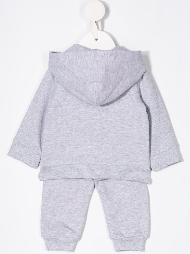 MOSCHINO KIDS: Balloons Teddy Bear print stretch cotton tracksuit Color Grey_2
