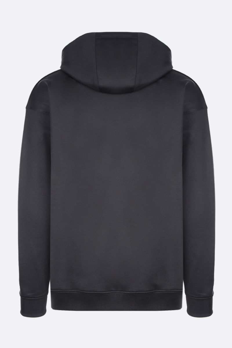 MOSCHINO: Moschino Couture! print technical cotton hoodie Color Black_2