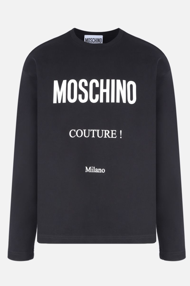 MOSCHINO: Moschino Couture! print cotton sweatshirt Color Black_1