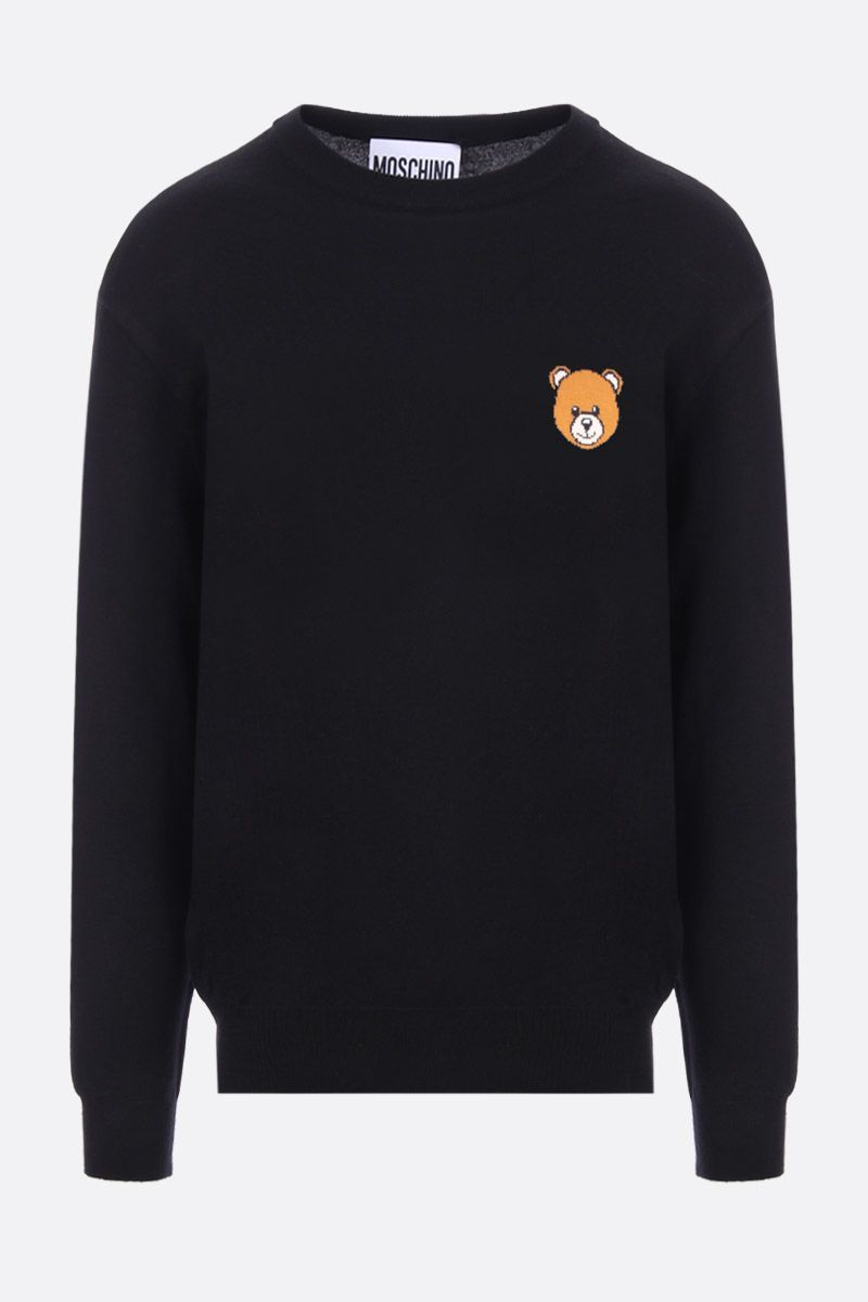 MOSCHINO: Moschino Teddy Bear intarsia cotton pullover Color Black_1