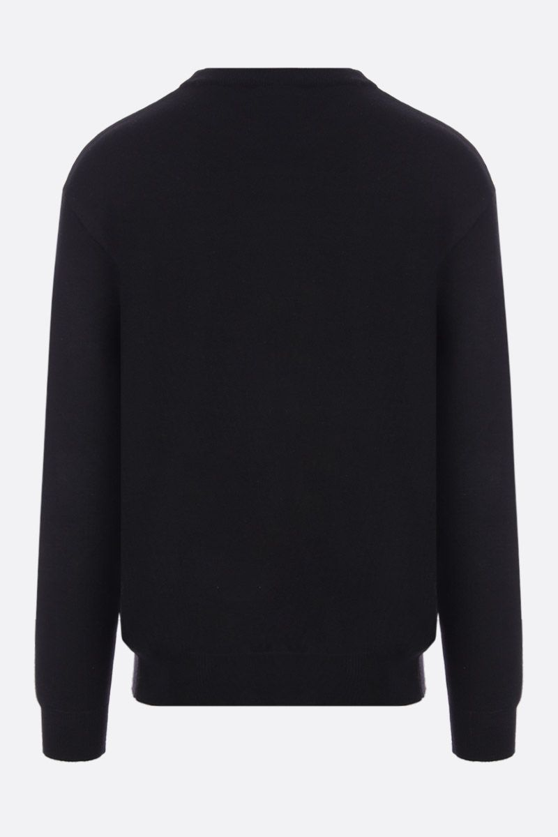 MOSCHINO: Moschino Couture! print cotton cashmere blend pullover Color Black_2