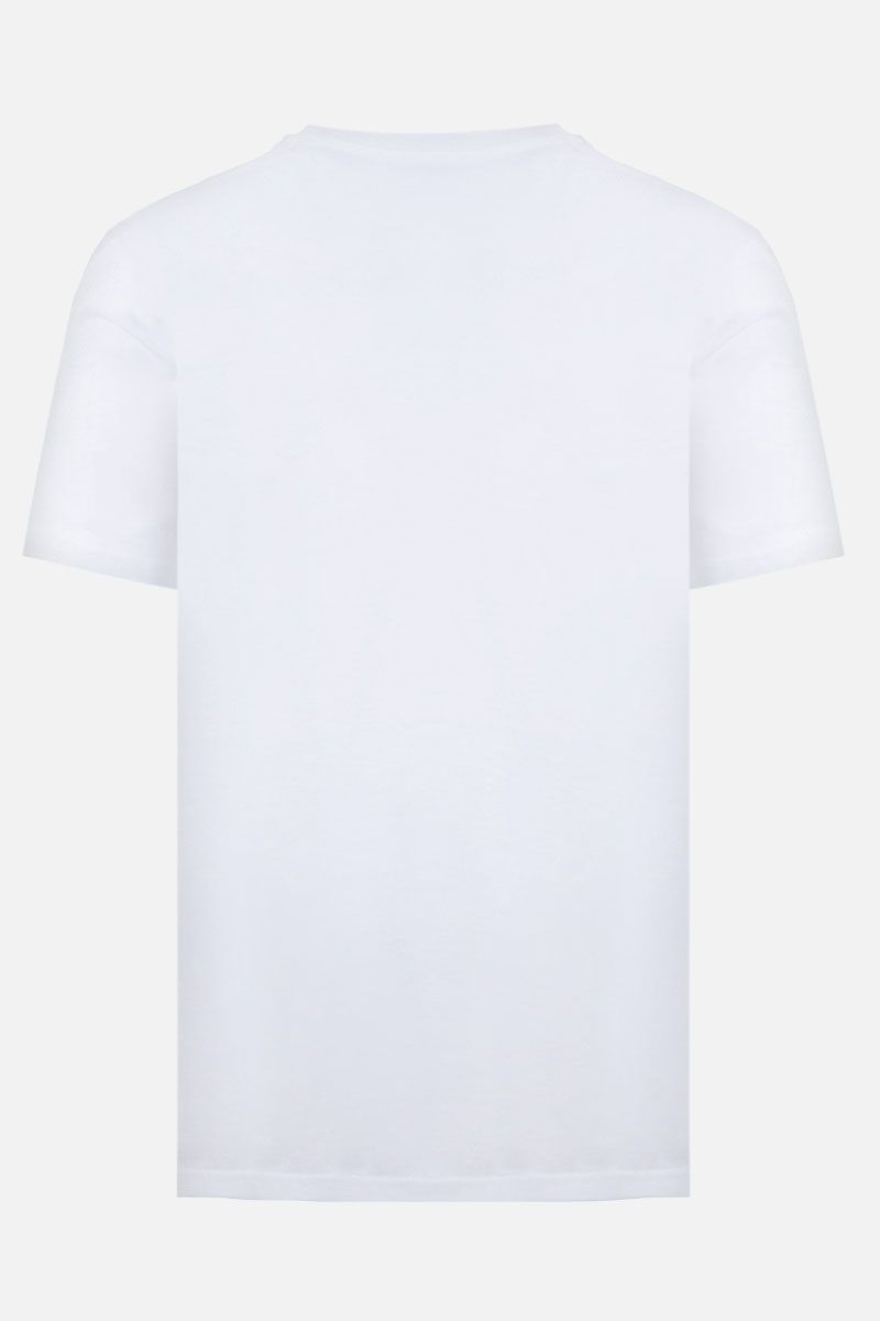 MOSCHINO: Moschino print cotton t-shirt Color White_2