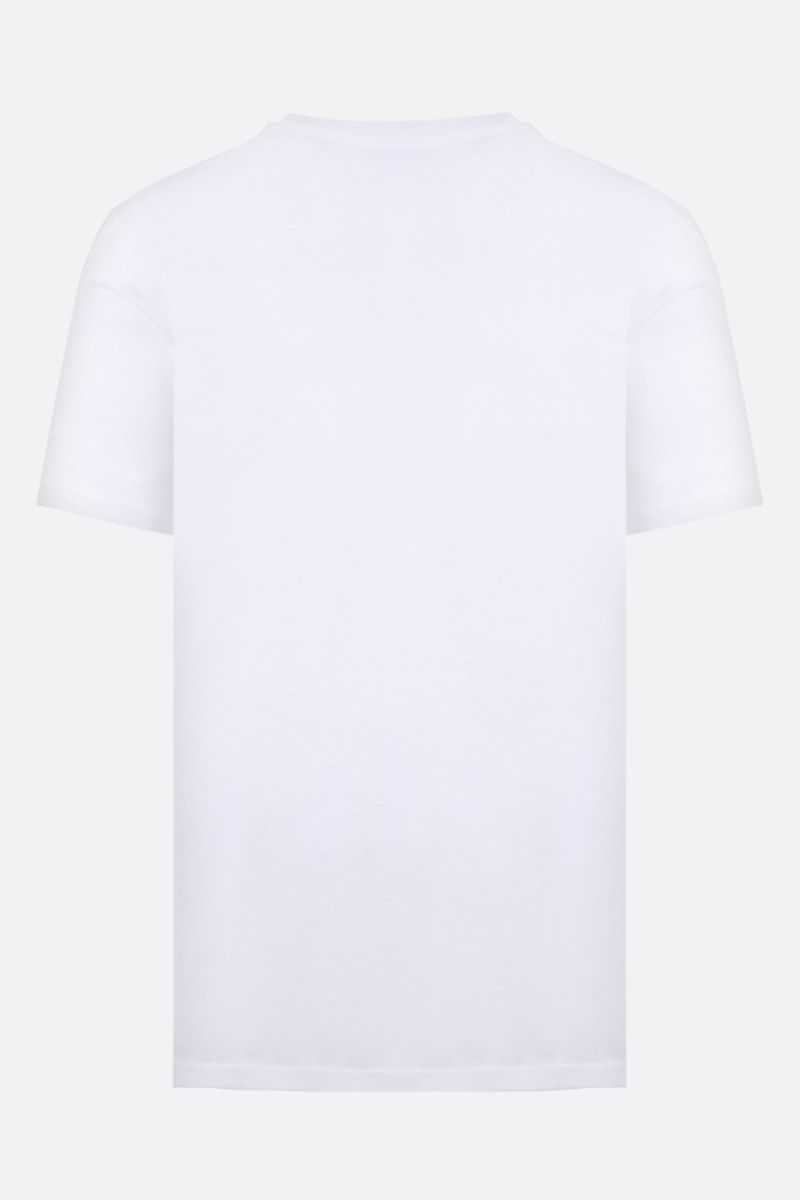 MOSCHINO: Coin print cotton t-shirt Color White_2