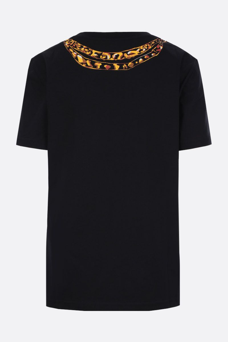 MOSCHINO: Moschino Chains print cotton t-shirt Color Black_2