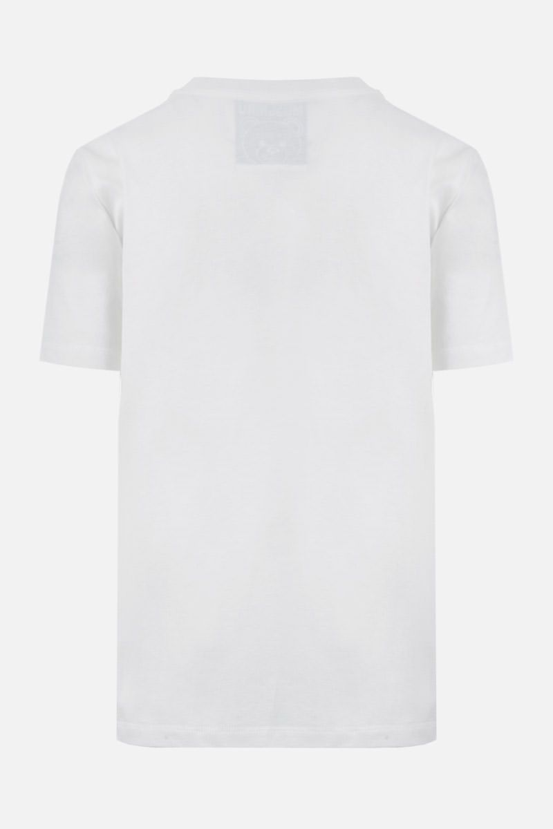 MOSCHINO: Frame Teddy Bear cotton t-shirt Color White_2