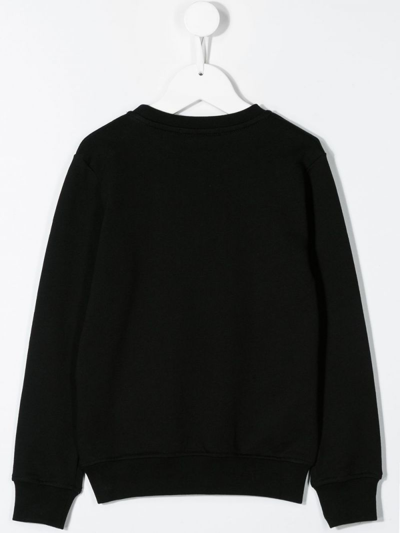 MSGM KIDS: MSGM print cotton sweatshirt Color Black_2