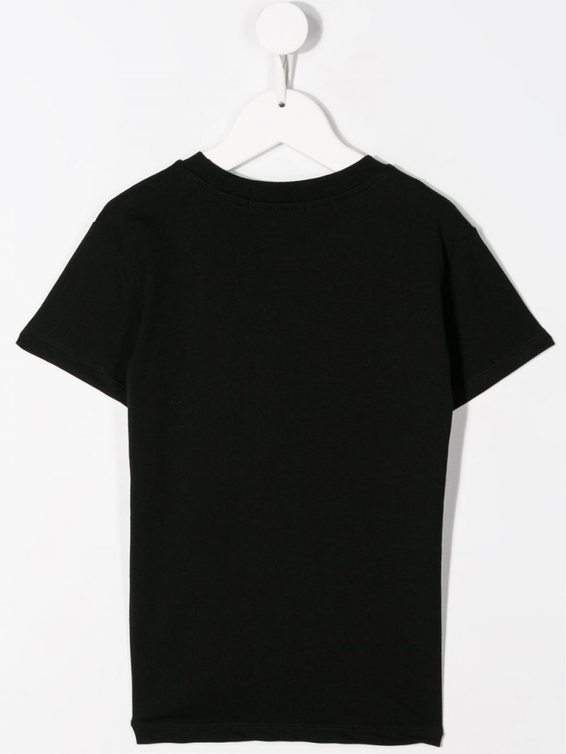 MSGM KIDS: MSGM print cotton t-shirt Color Black_2