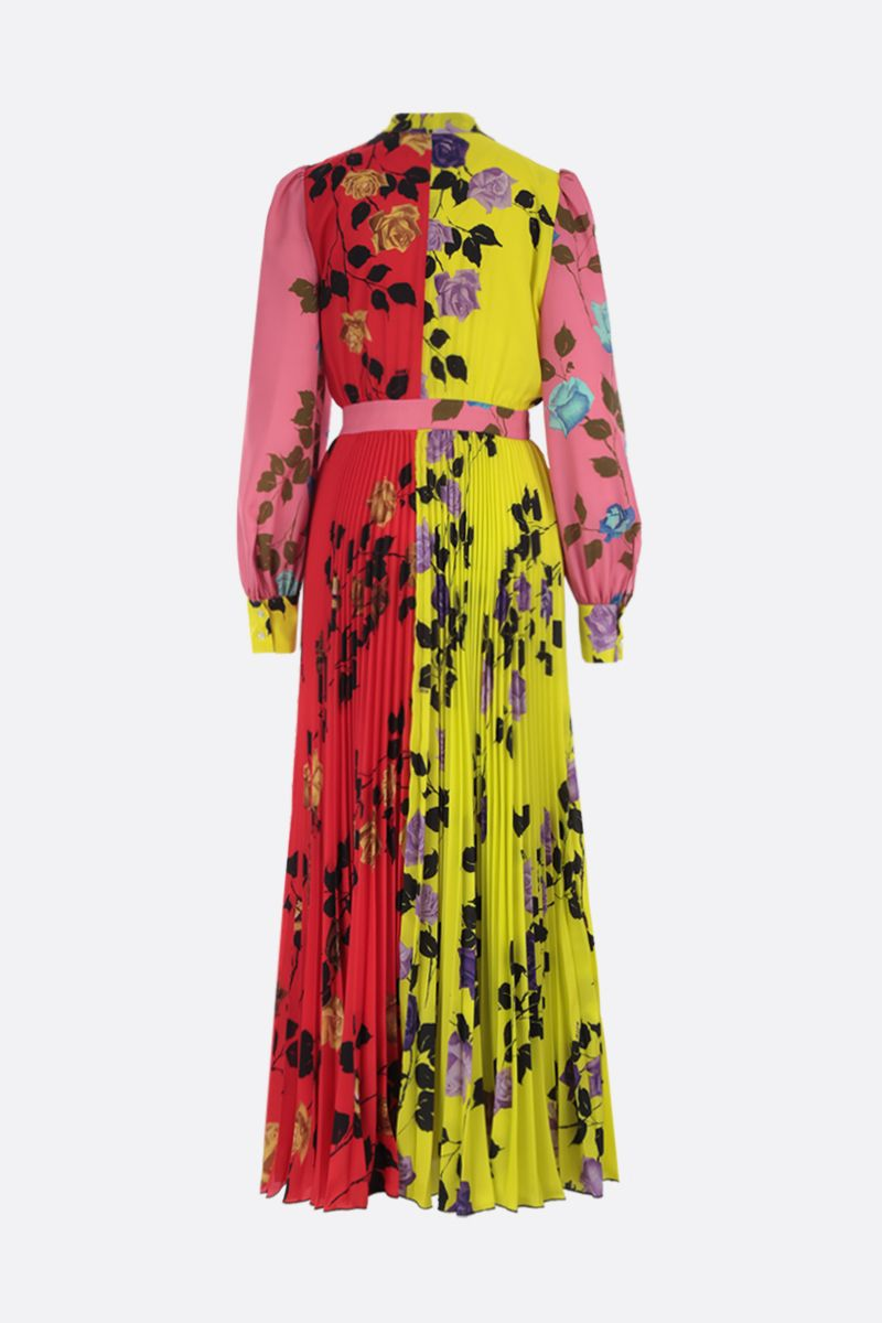 MSGM: Flower MSGM printed crepe de chine midi dress Color Yellow_2