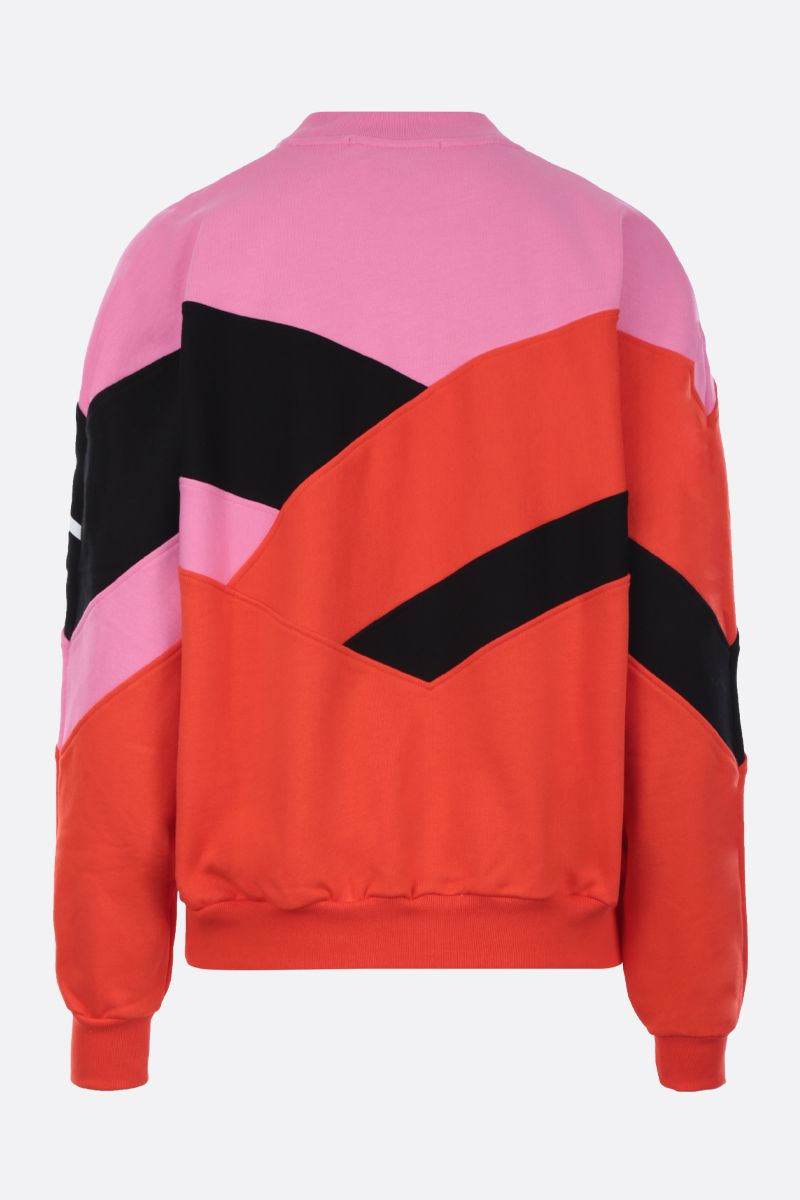 MSGM: logo print cotton sweatshirt Color Pink_2