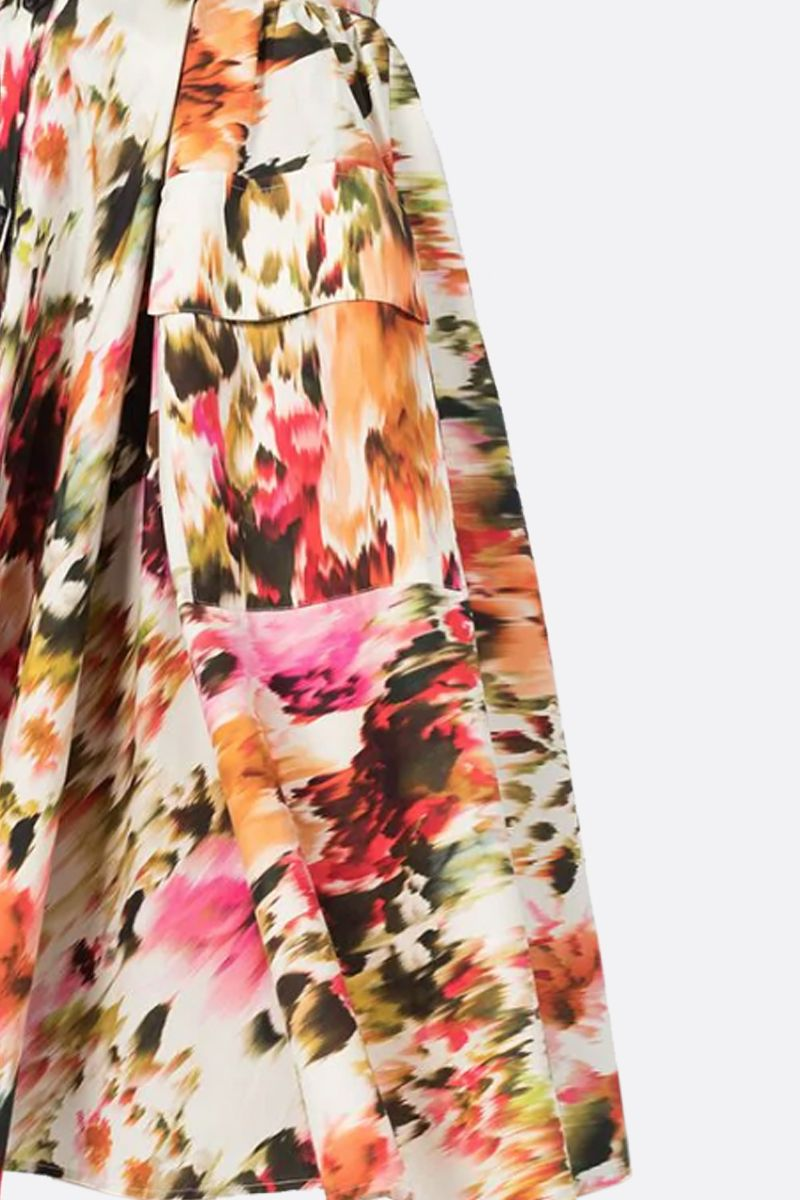 MSGM: Roses MSGM printed cotton circle skirt Color Multicolor_2