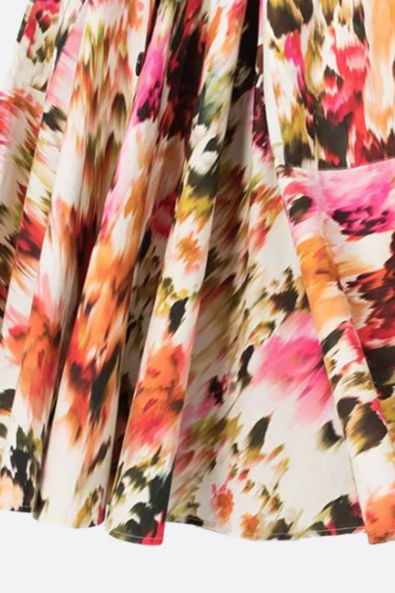 MSGM: Roses MSGM printed cotton circle skirt Color Multicolor_4