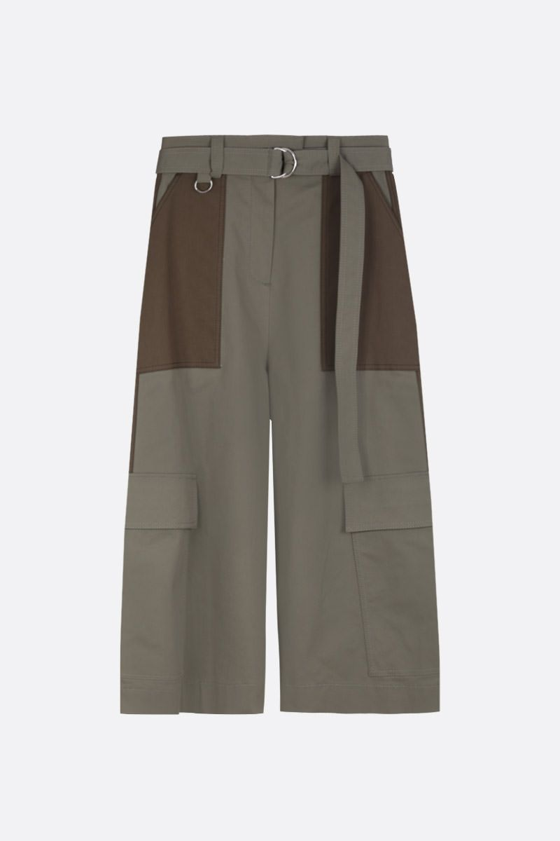 MSGM: stretch cotton cargo pants_1