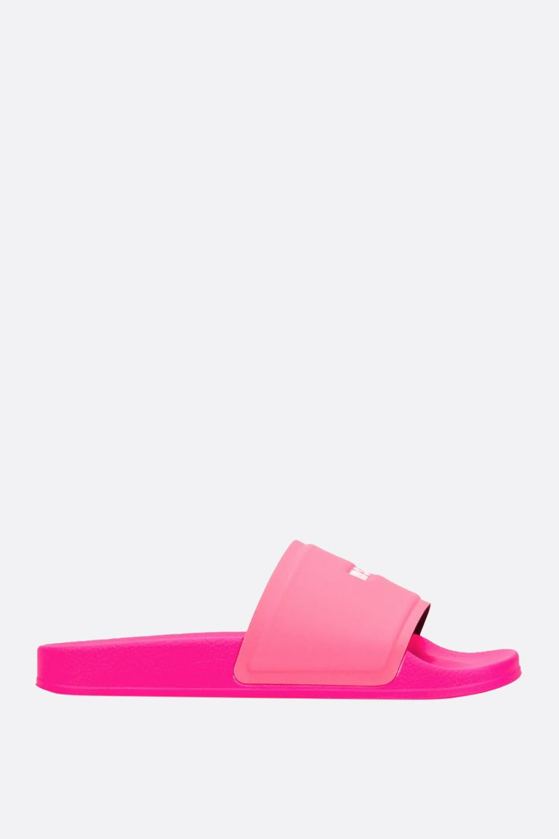 MSGM: logo-embossed rubber slide sandals_1