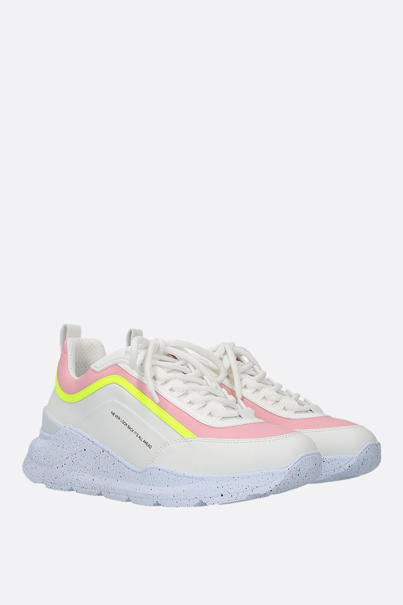 MSGM: smooth leather low-top sneakers Color White_2